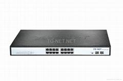 Full Gigabit PoE Swith 16-Port PoE  SFP