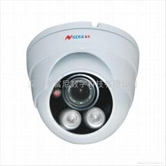 单灯点阵红外30米半球安防监控摄像机