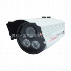 双灯点阵红外60米安防监控摄像机