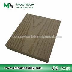 wood plastic composite solid decking
