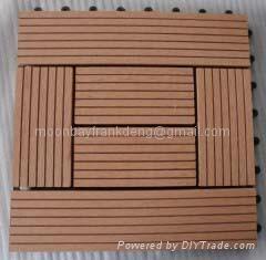 wood plastic garden tiles