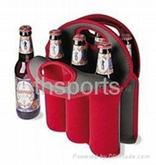 HIGH QUALITY neoprene 6-PACK wine bottle cooler