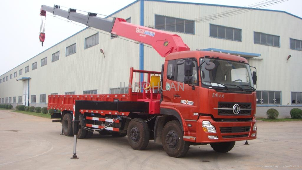 cargo truck mounted with 16ton truck crane for sale ...