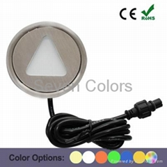 Colorful LED Floor Mounted Light Outdoor Deck/Step Light