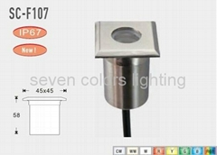 High Power 1W Stainless Steel Waterproof IP67 Led Underground Light
