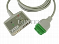 GE-Marqutte 12-Ld ECG trunk cable