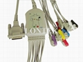 Compatible 10 lead EKG cable with