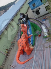Inflatable King Kong Dinosaur Fight Gaint Slide