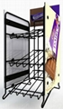 Point of purchase bespoke permanent counter top metal display rack 1