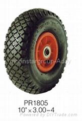 "High Quality 10""x300-4 Rubber Tire For Wheelbarrow"