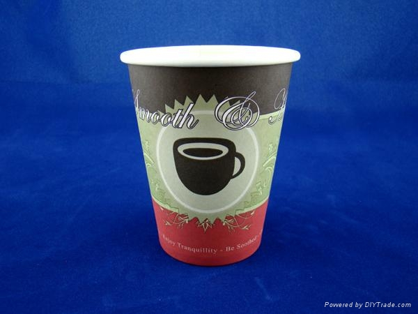 12oz Paper Cups - Hot Bean Design 1
