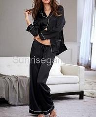 Women satin long sleeves Pyjamas