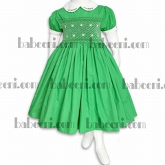 Hand embroidery smocked dresses for
