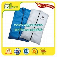 Widely empolyed in apparel industry and clear foldable zipper garment bag