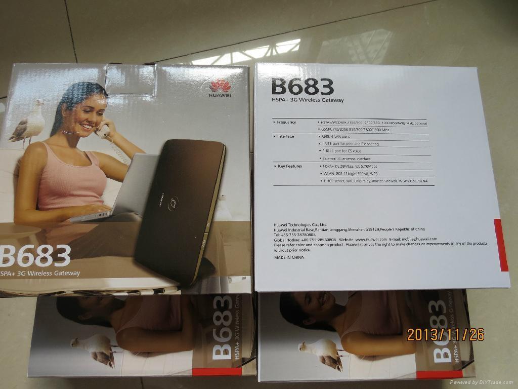 Unlock Huawei B683 4G/3G wireless router WPS USB HSPA+