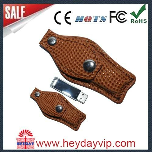 promotional gift leather usb flash drive 4