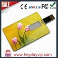 custom printing credit card usb flash