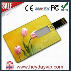 custom printing credit card usb flash drive