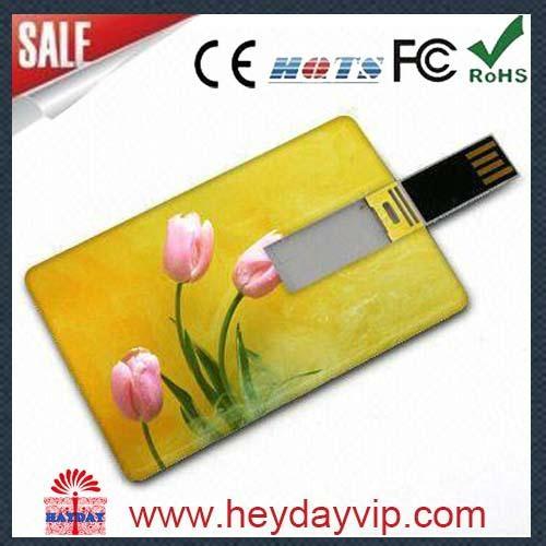 custom printing credit card usb flash drive 1
