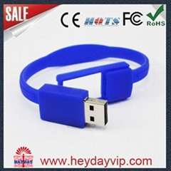 OEM silicon bracelet wristband usb flash drive