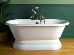 cast iron double ended tubs