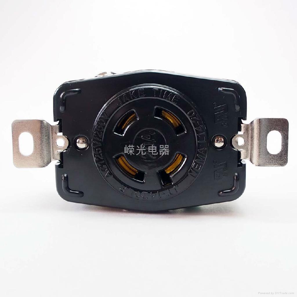 Nema L15-20p 20a 250vac Locking Plug - Jt-1420lp