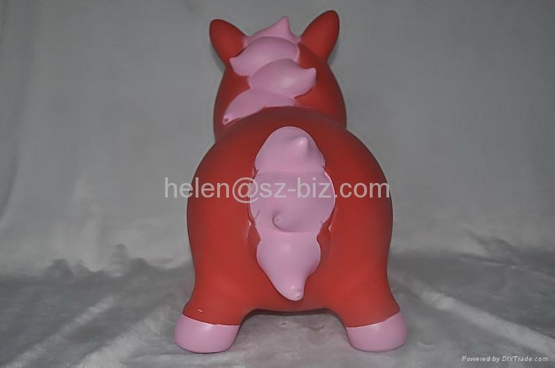 red horse inflatable toy 3