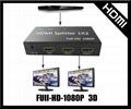 HDMI一分二分配器