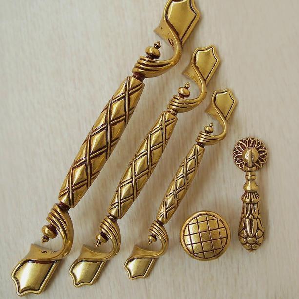 Golden luxury European style door handle/ambry drawer antique ...