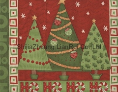 Printed cotton fabric for Christmas