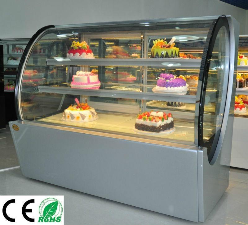 Glass Door Mini Cake Display Case Qa730a Xizhiyang