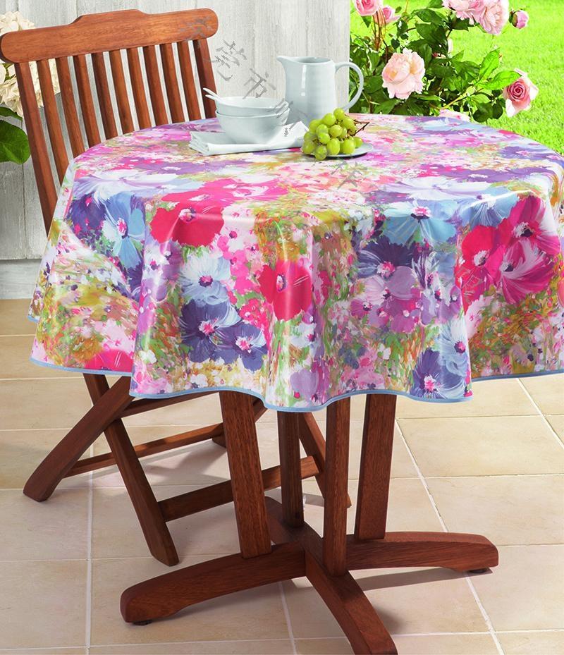 PVC透明圆桌桌布 2