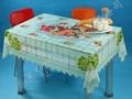 PVC透明易清洗桌布 5