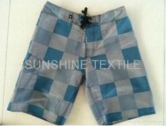 New Style Artascope Pattern Designer Fabric Beach Shorts