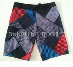 Fashion design sublimation beach shorts