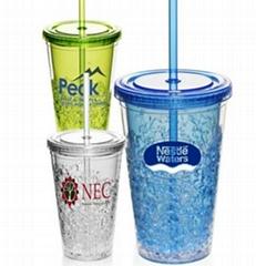20oz Plastic Double Wall Freezer Mug