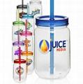 color single wall mason jar Plastic Mug