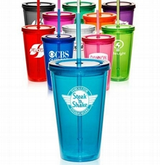 16 Oz. Glittery Double Wall AS Promotional Tumblers