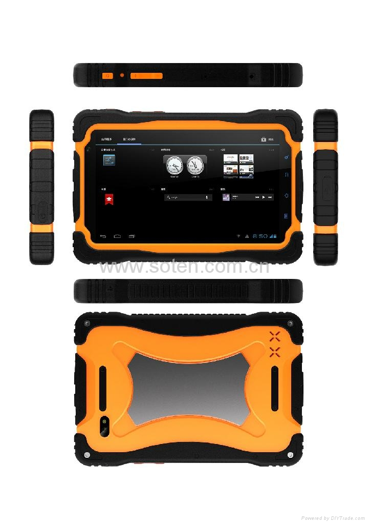 7inch Rugged Tablet PC for Business with 3G GPS RFID NFC Dual-core from SOTEN  3