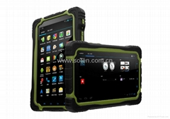 T70 Waterproof Tablet R   ed with 7 Inch Touch Screen Quad Core GPS 3G