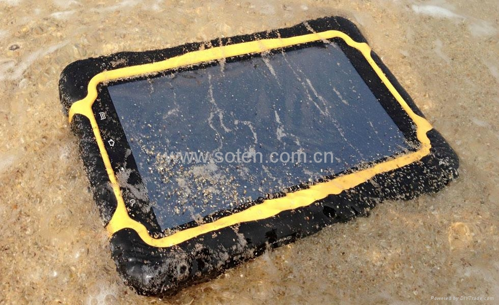 Quad Core IP67 Outdoor 7inch R   ed Tablet GPS 3G Call 10000mah 3