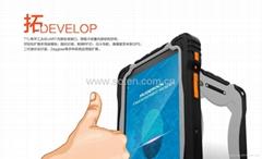 4 Core IP67 Outdoor 7inch R   ed Tablet GPS NFC RFID Beidou Navigation