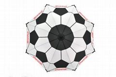 Promotional Coca-Cola Stick Umbrella Football Fabric