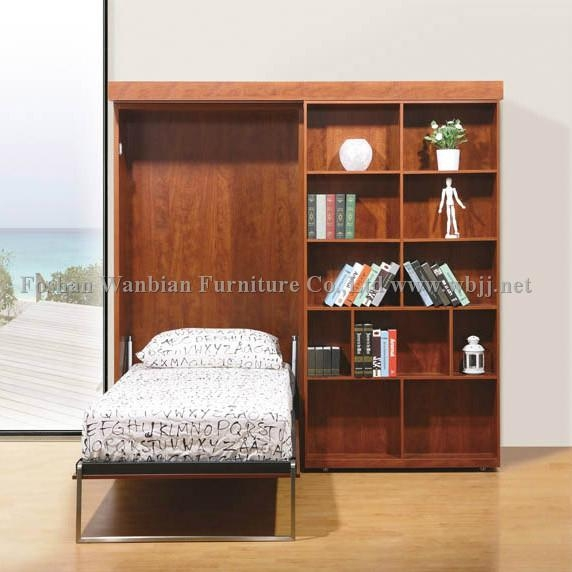 Sliding Wall Beds : Gs wall bed sliding bookcases murphy hidden