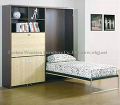 GS5003 wall bed set with foldable desk murphy bed hidden bed
