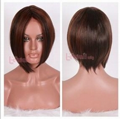 short brown women straight lace front Wig