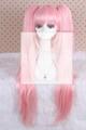 long pink Dangan-Ronpa straight clip on ponytails