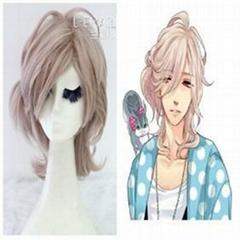 AsahinaLouis 35cm short taro clip on cosplay wig
