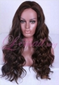 long women wave curly lace front wig