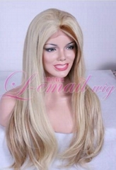 long women straight lace front wig